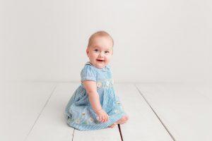 smiling baby girl at huntingdon baby photographer
