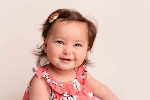 baby girl at Huntingdon baby photography