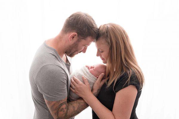 baby sleeping during Huntingdon newborn photography session
