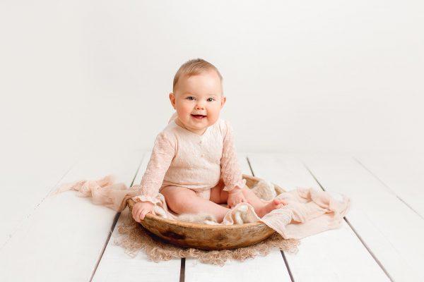 smiling baby girl Huntingdon baby photographer