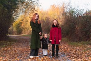 sisters posing for family photograph in Huntingdon